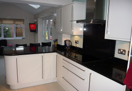 Black quartz sparkle worktops
