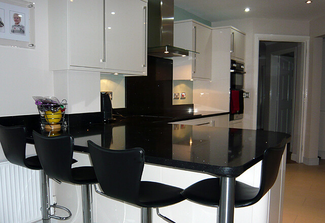 Cosmos Black granite worktops