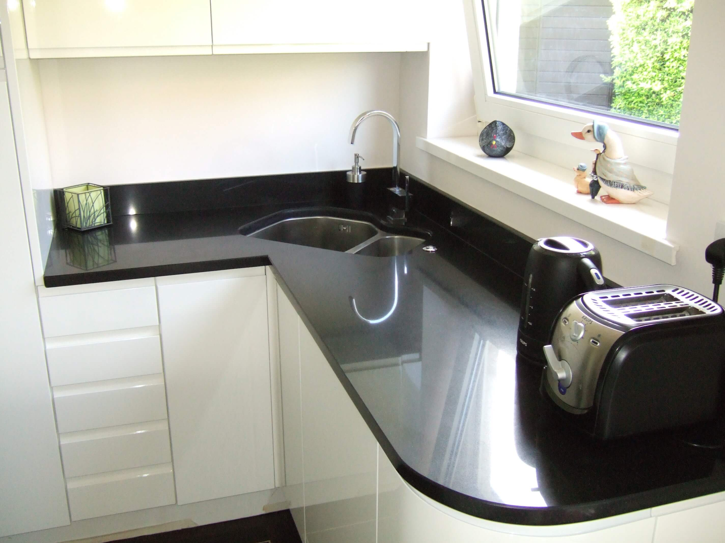 Silestone negro tebas kitchen worktops
